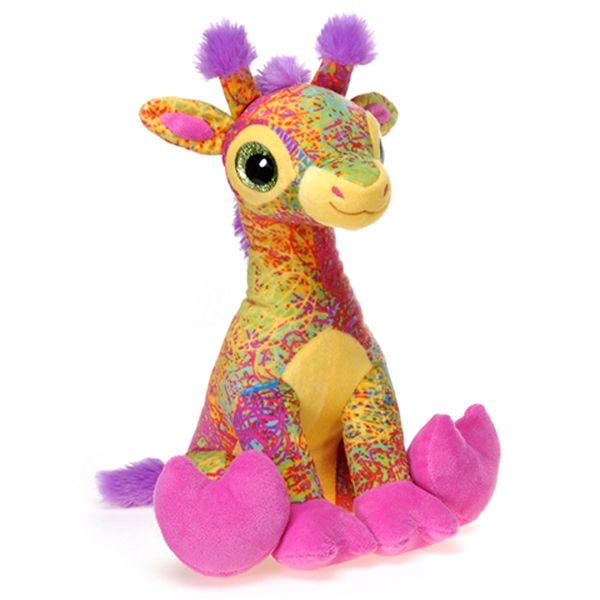Scribbleez Colorful Giraffe Stuffed Animal Fiesta