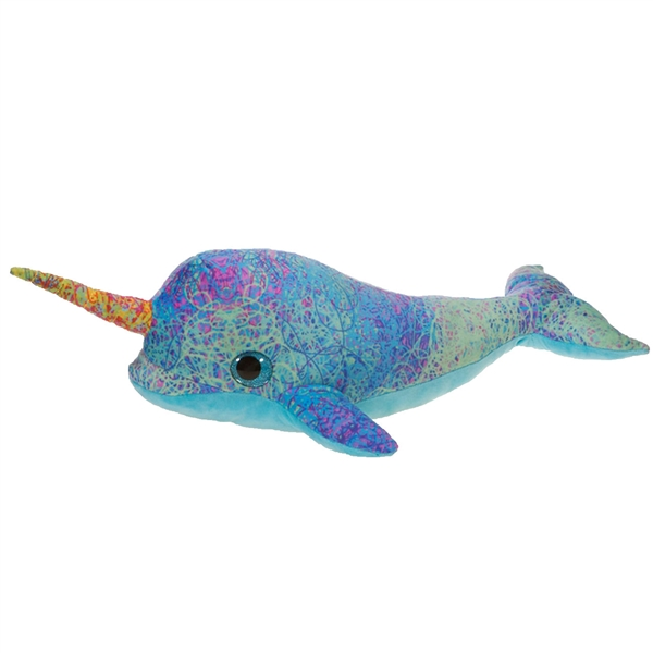 Scribbleez Colorful Narwhal Stuffed Animal Fiesta