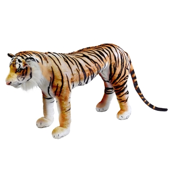 Stuffed Tiger 40 Inch Ride-On Plush Animal by Fiesta