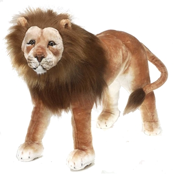 Stuffed Lion 36 Inch Ride-On Plush Animal by Fiesta