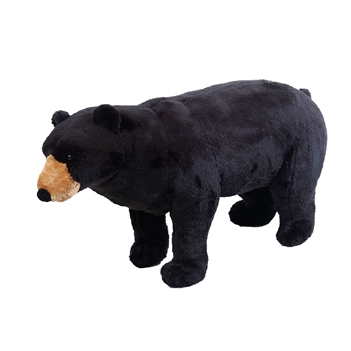 Stuffed Black Bear 38 Inch Ride-On Plush Animal by Fiesta