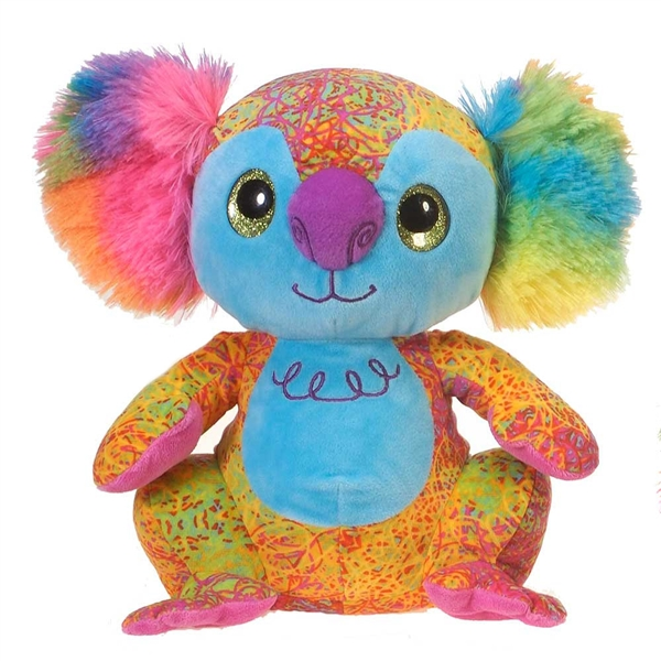 Scribbleez Colorful Koala Stuffed Animal Fiesta Stuffed Safari