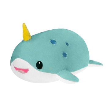 Lyssa the Smooth Stuffed Narwhal by Fiesta