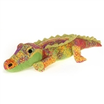 Scribbleez Colorful Alligator Stuffed Animal