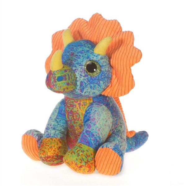 Scribbleez Colorful Triceratops Stuffed Animal Fiesta Stuffed Safari