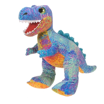 Scribbleez Colorful T-Rex Stuffed Animal by Fiesta
