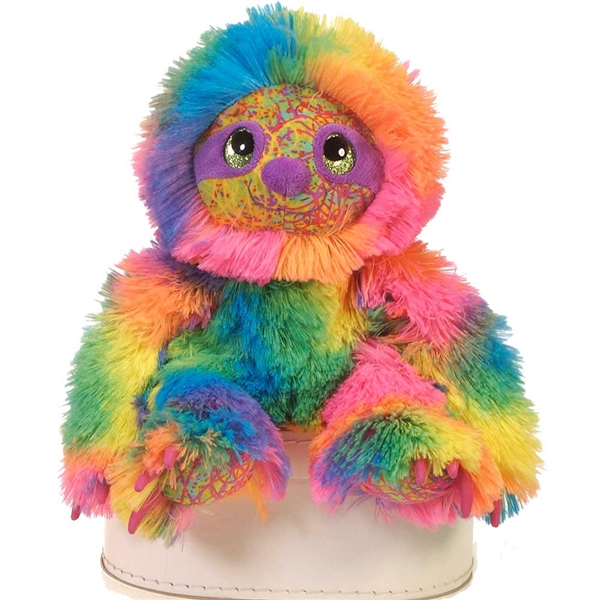 Scribbleez Colorful Sloth Stuffed Animal Fiesta Stuffed Safari