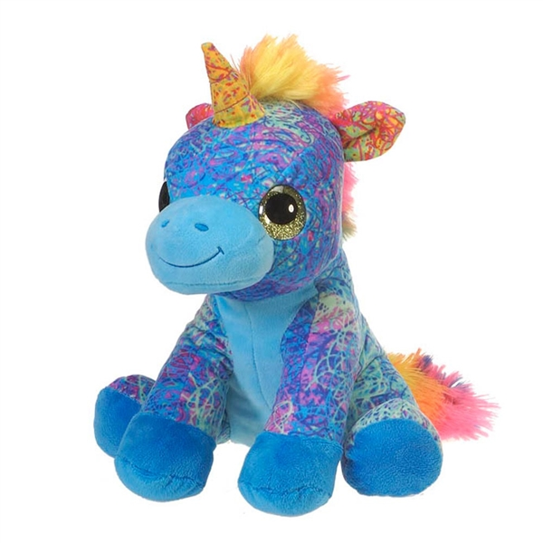 Scribbleez Colorful Unicorn Stuffed Animal Fiesta Stuffed Safari