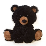 Bernard the Scruffy Black Bear Stuffed Animal by Fiesta