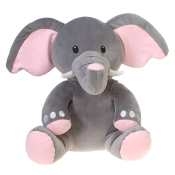 Englebert the Smooth Stuffed Elephant by Fiesta