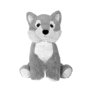Large Sitting Stuffed Wolf by Fiesta