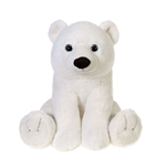 Large Sitting Stuffed Polar Bear by Fiesta