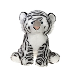 Large Sitting Stuffed White Tiger by Fiesta