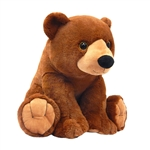 Large Sitting Stuffed Grizzly Bear by Fiesta