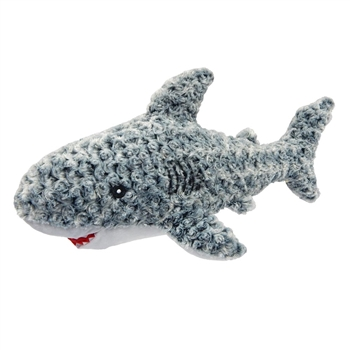 Gray Textured Plush Shark Stuffed Animal by Fiesta
