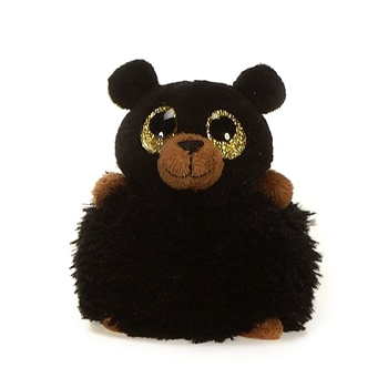 Breezy the Pom Pals Black Bear Stuffed Animal by Fiesta