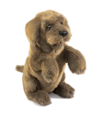 Full Body Sitting Dog Puppet by Folkmanis Puppets