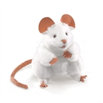 Full Body White Mouse Puppet by Folkmanis Puppets