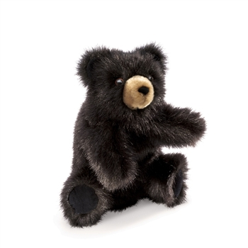 Full Body Baby Black Bear Puppet by Folkmanis Puppets