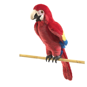 Full Body Scarlet Macaw Puppet by Folkmanis Puppets