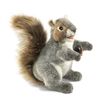 Full Body Gray Squirrel Puppet by Folkmanis Puppets
