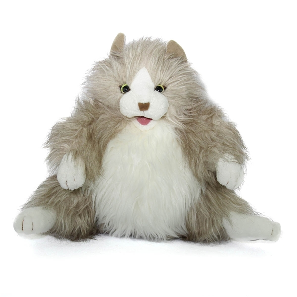 Fluffy Cat Puppet Folkmanis Puppets Stuffed Safari