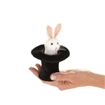 Rabbit in a Hat Finger Puppet by Folkmanis Puppets