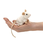 White Mouse Finger Puppet by Folkmanis Puppets