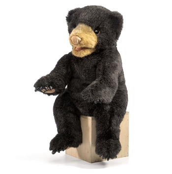 Full Body Black Bear Cub Puppet by Folkmanis Puppets