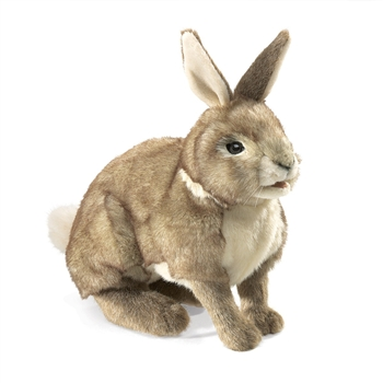 Full Body Cottontail Rabbit Puppet by Folkmanis Puppets