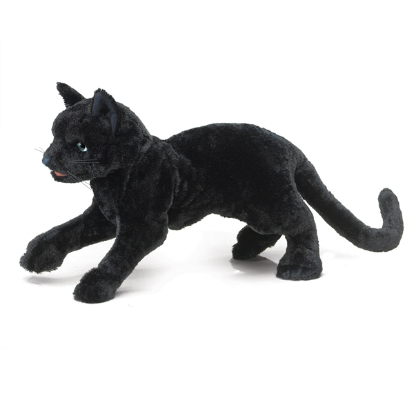 Full Body Black Cat Puppet Folkmanis Puppets Stuffed Safari