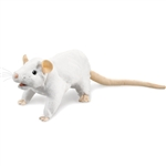 Full Body White Rat Puppet Folkmanis Puppets