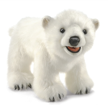Full Body Polar Bear Cub Puppet by Folkmanis Puppets