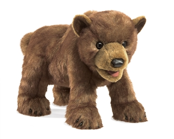 Full Body Brown Bear Cub Puppet by Folkmanis Puppets