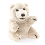 Full Body Sitting Polar Bear Puppet by Folkmanis Puppets