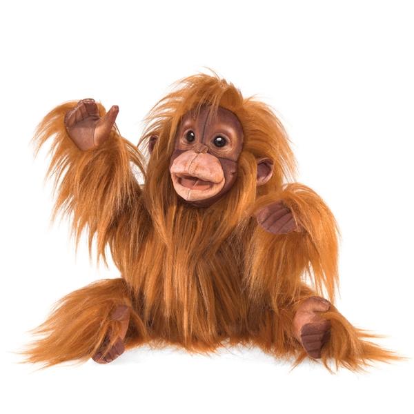 Baby Orangutan Puppet Folkmanis Puppets Stuffed Safari