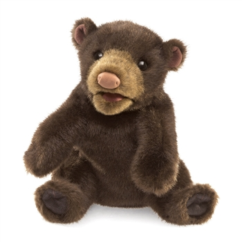 Full Body Small Black Bear Puppet by Folkmanis Puppets