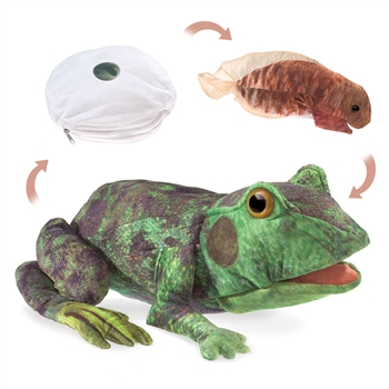 Full Body Frog Life Cycle Puppet by Folkmanis Puppets