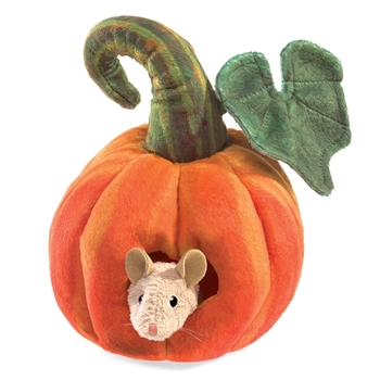 Mouse in a Pumpkin Stage Puppet by Folkmanis Puppets