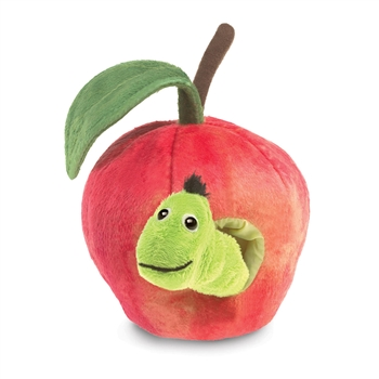 Worm in an Apple Stage Puppet by Folkmanis Puppets