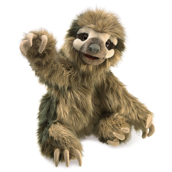 Full Body Big Sloth Puppet Folkmanis Puppets Stuffed Safari