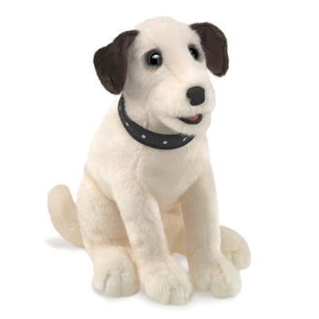 Full Body White Terrier Puppet by Folkmanis Puppets