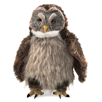 Full Body Hooting Owl Puppet by Folkmanis Puppets