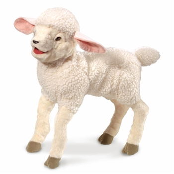 Full Body White Lamb Puppet by Folkmanis Puppets