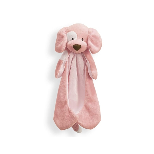 Spunky The Plush Pink Dog Huggybuddy Baby Blanket By Gund At Stuffed