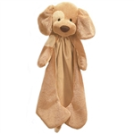 Spunky the Plush Tan Dog Huggybuddy Baby Blanket by Gund