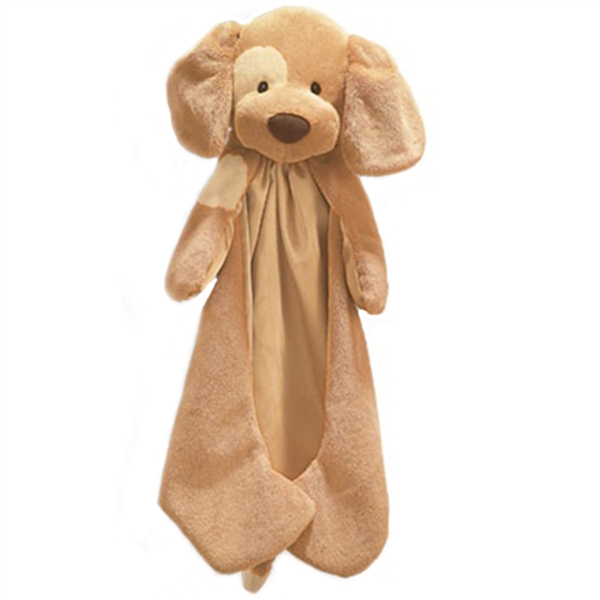 Spunky The Plush Tan Dog Huggybuddy Baby Blanket By Gund At Stuffed