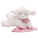 Lena the Plush Prayer Lamb with Pink Blanket by Gund
