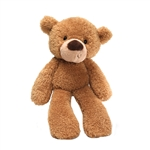 Fuzzy Tan Teddy Bear Stuffed Animal by Gund