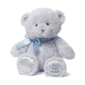 My First Teddy Blue Baby Safe Stuffed Bear by Gund